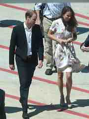 William and Kate touch down in Brisbane